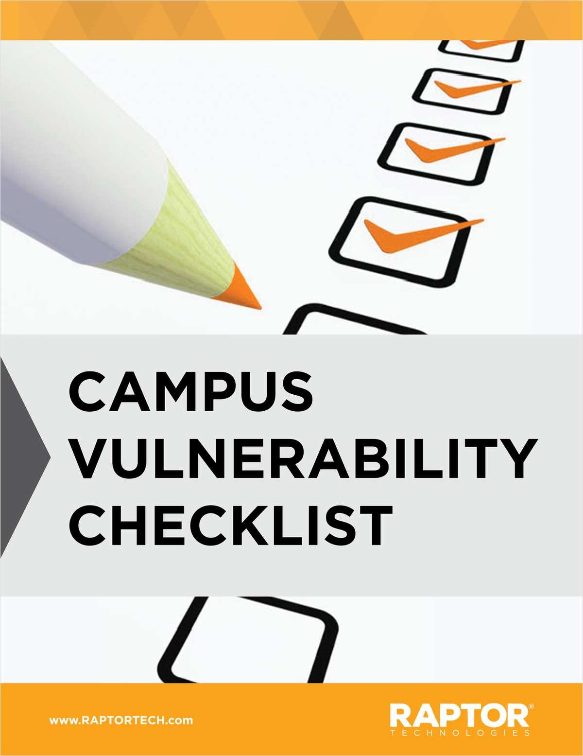 K-12: Campus Vulnerability Checklist
