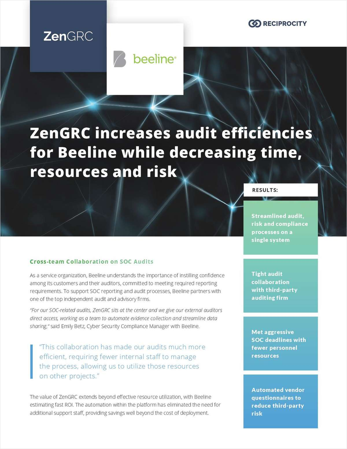 ZenGRC Increases Audit Efficiencies for Beeline While Decreasing, Time, Resources and Risk