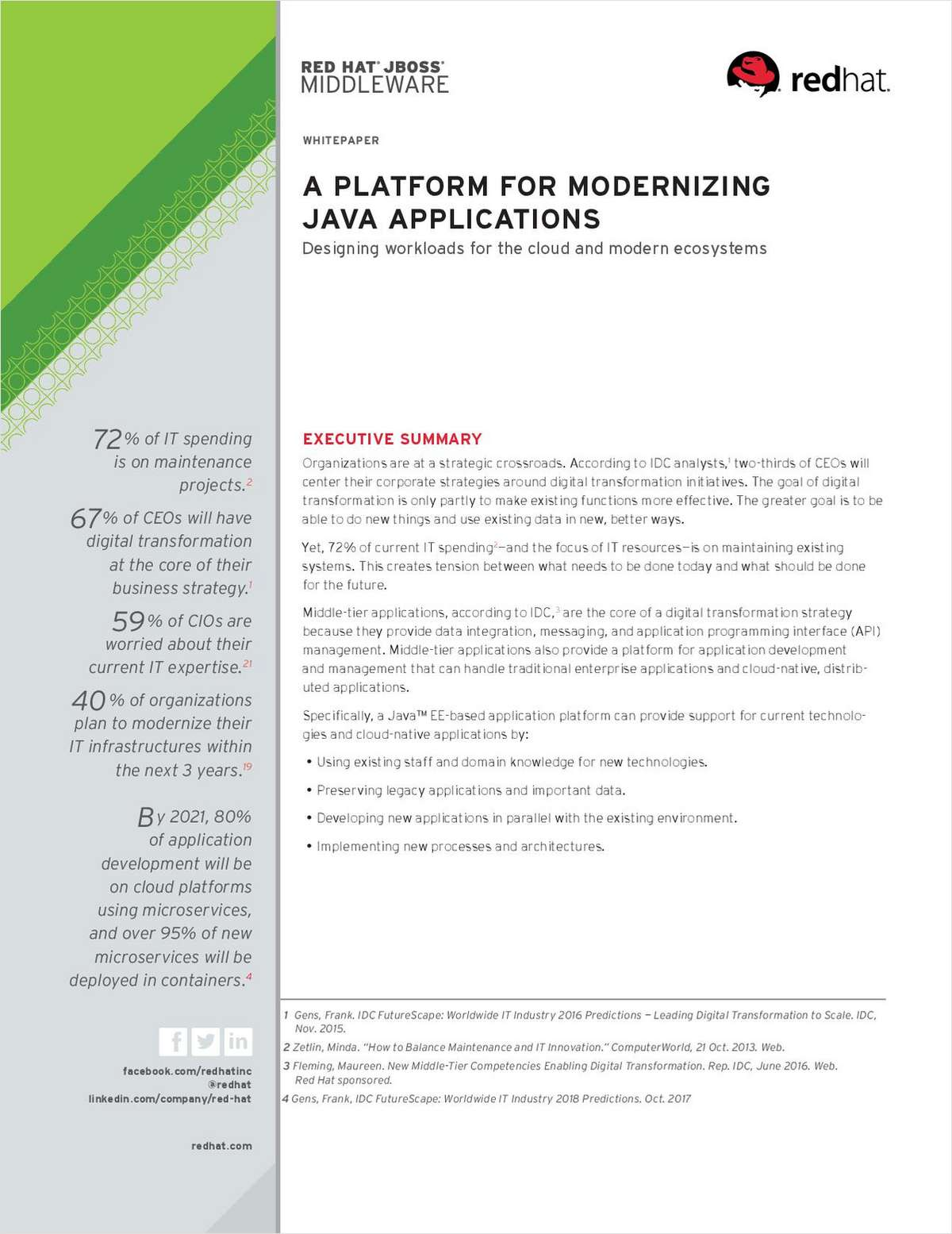 A Platform for Modernizing Java Applications Free White Paper