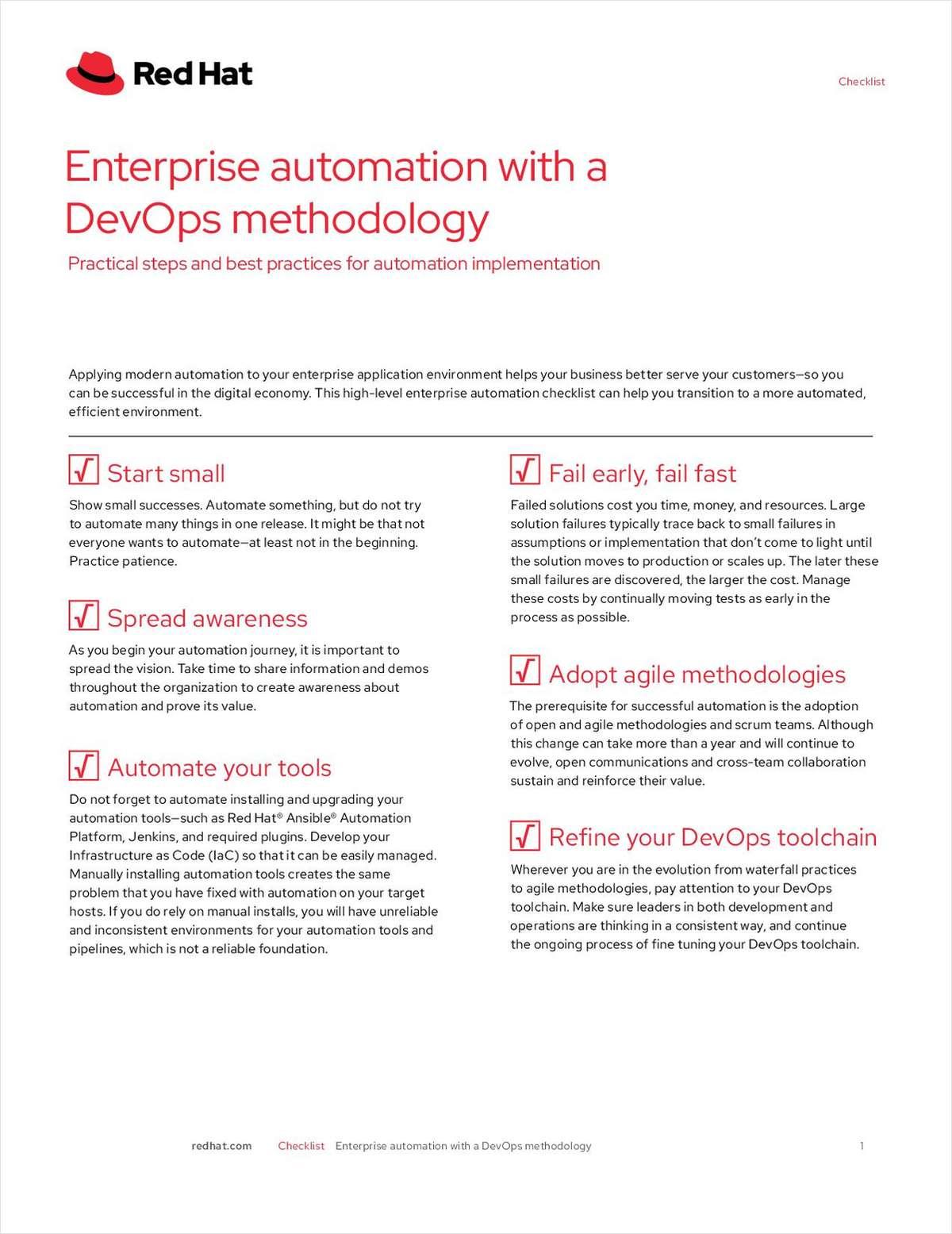 Enterprise Automation with a DevOps Methodology