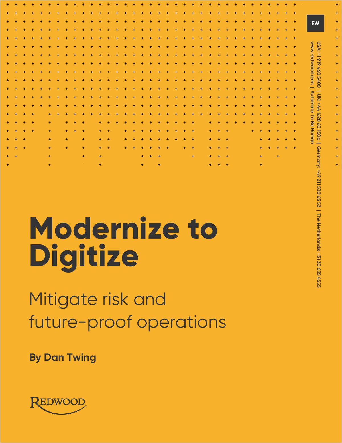 Modernize to Digitize