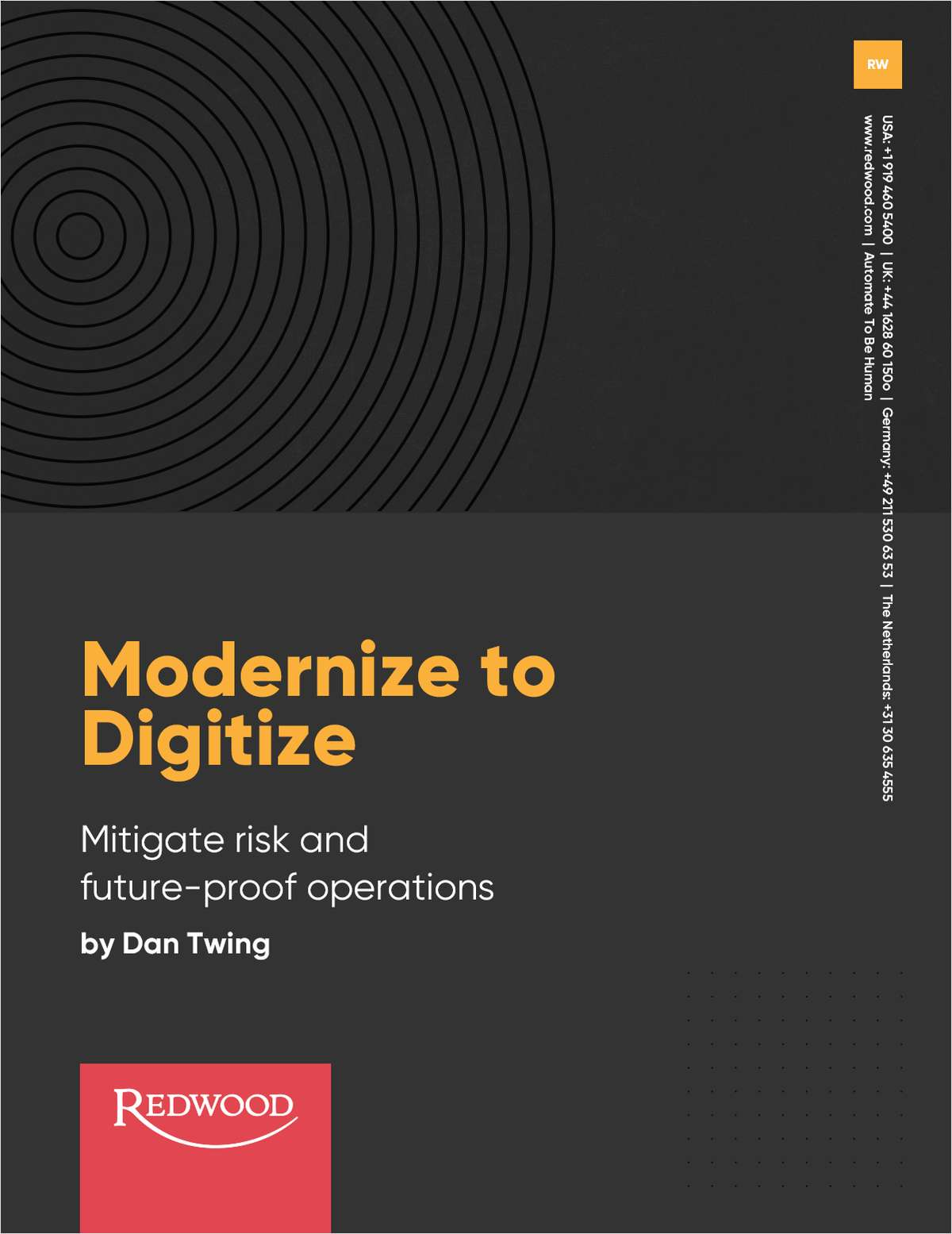 Modernize to Digitize Future-Proof Operations and Mitigate Risk