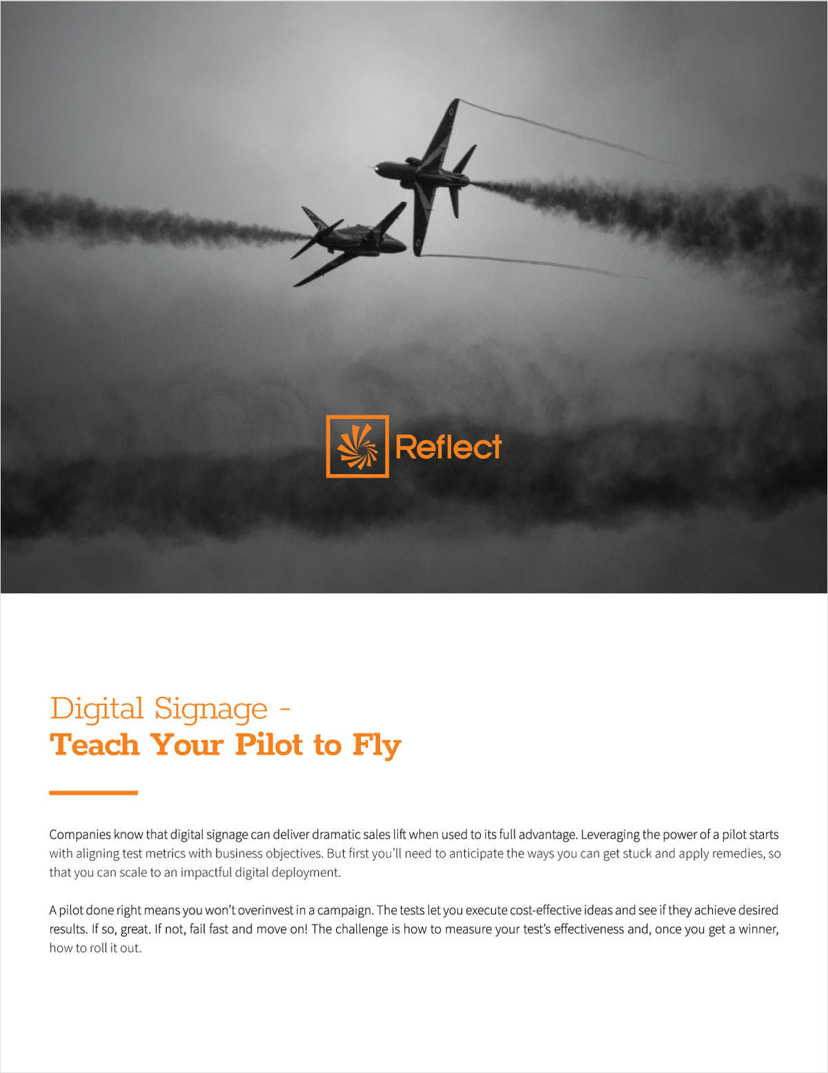 Digital Signage - Teach Your Pilot to Fly