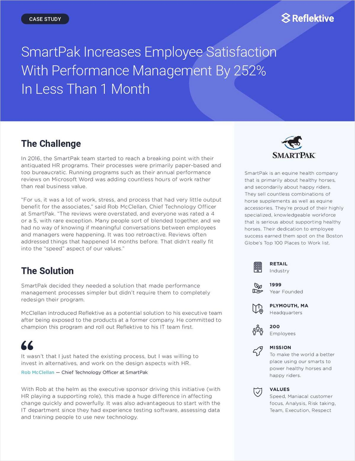 SmartPak Increases Satisfaction With Performance Management By 252% In Less Than 1 Month