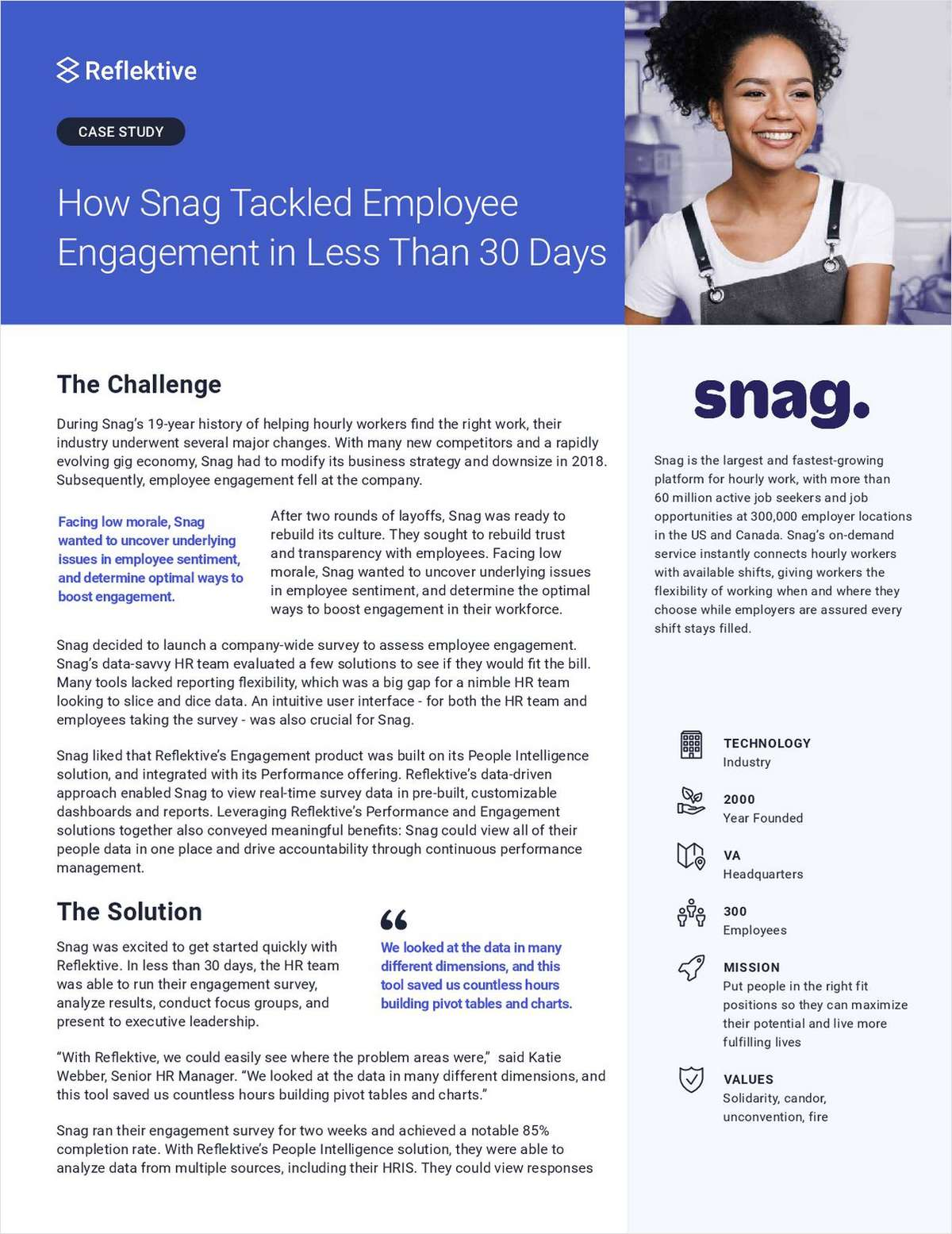 How Snag Tackled Employee Engagement in Less Than 30 Days