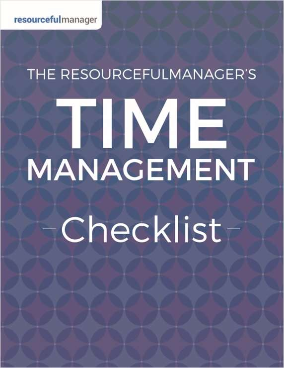 Time Management Checklist from ResourcefulManager