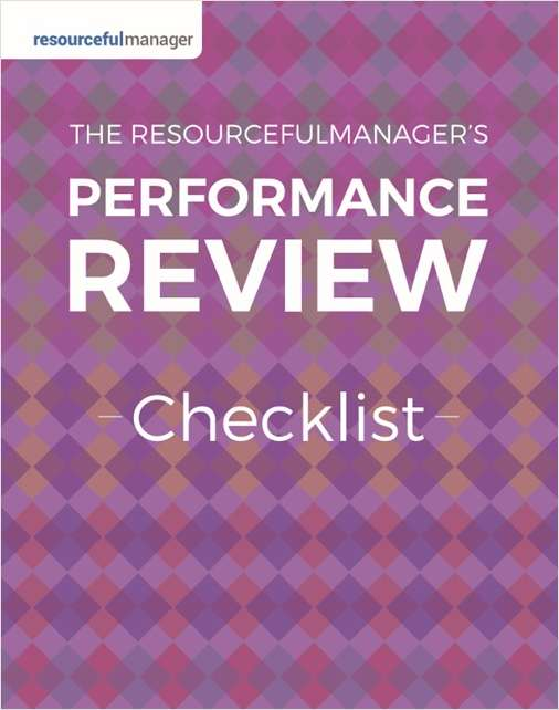 Performance Review Checklist from ResourcefulManager