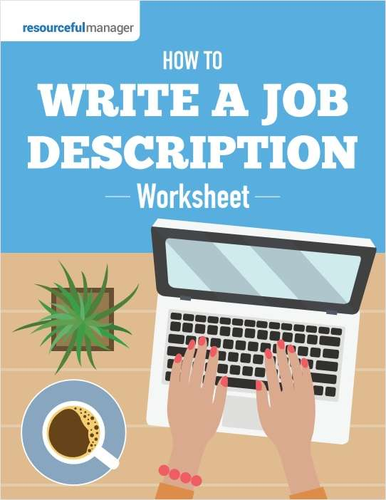 How To Write A Job Description Worksheet