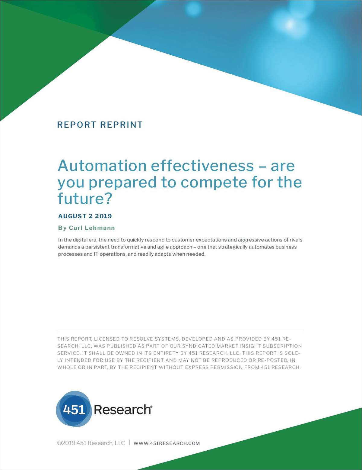 IT Automation effectiveness - are you prepared to compete for the future?