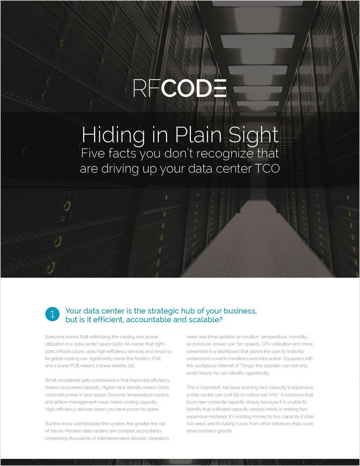 5 Data Center Facts Driving Up Costs That You Need to Recognize