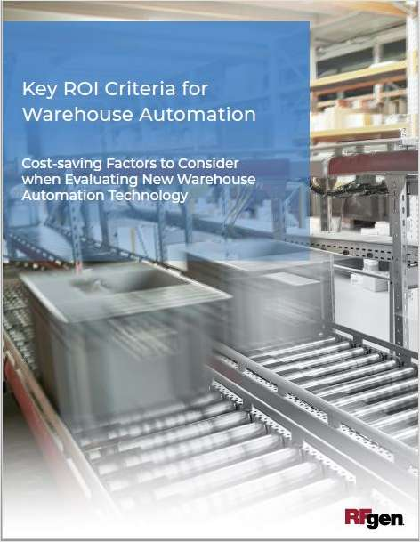 Key ROI Criteria for Warehouse Automation, Free RFgen