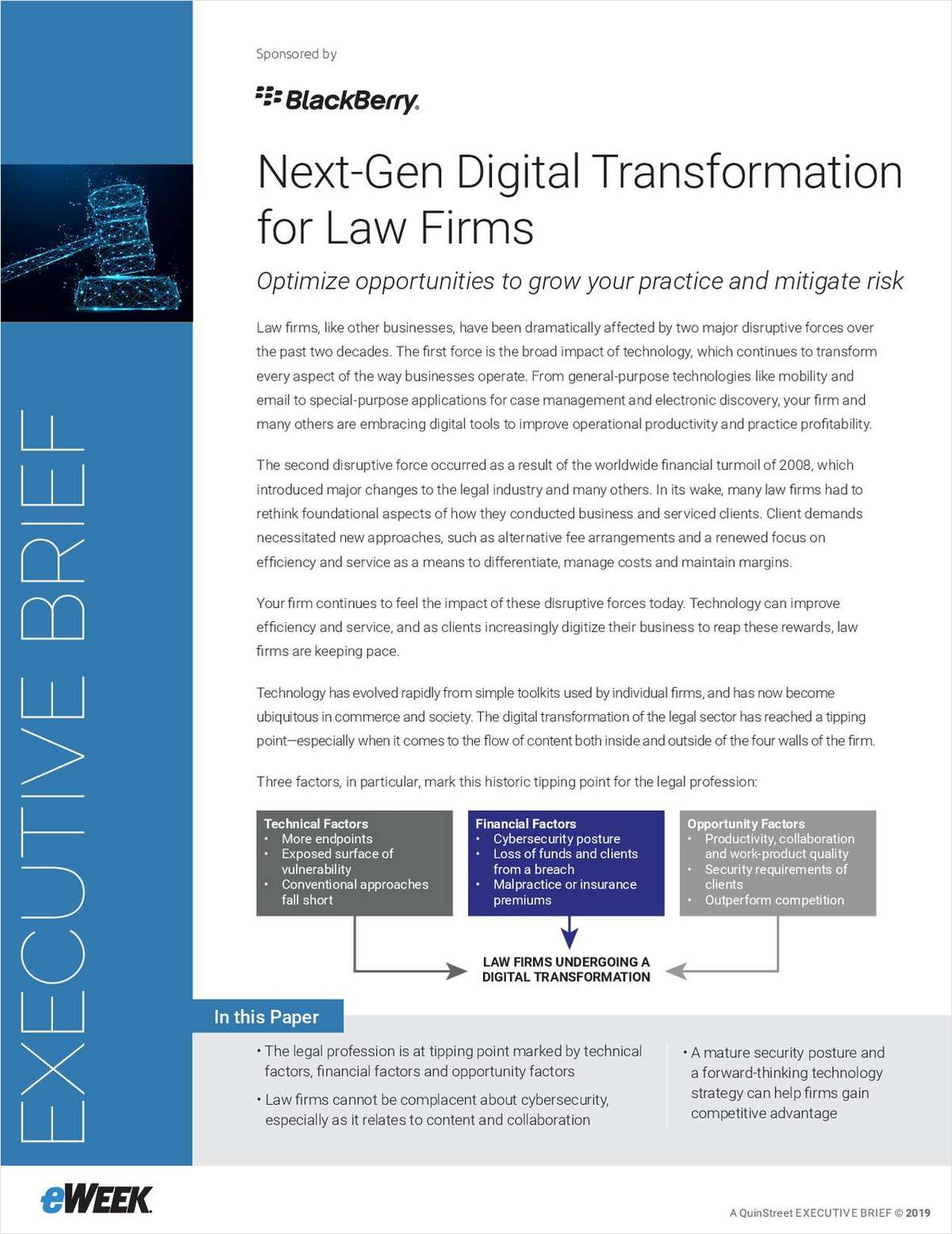 Law Firm Digital Transformation: How to Optimize Opportunities for Growth and Risk Mitigation