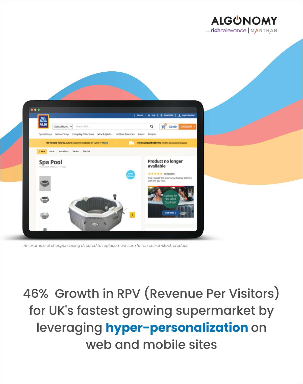 Aldi, UK's fastest growing supermarket grows digital revenue per visitor 46%, ups average order value 10% with hyper-personalization on web and mobile sites