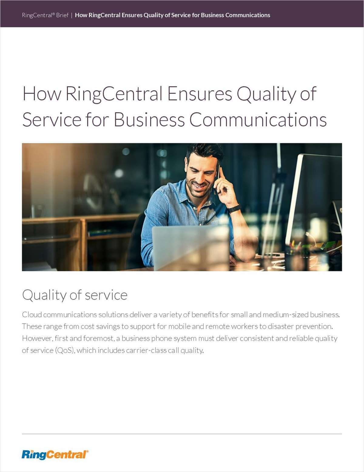How RingCentral Ensures Quality of Service for Business Communications