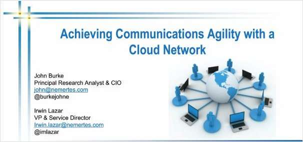 Achieving Communications Agility with a Cloud Network