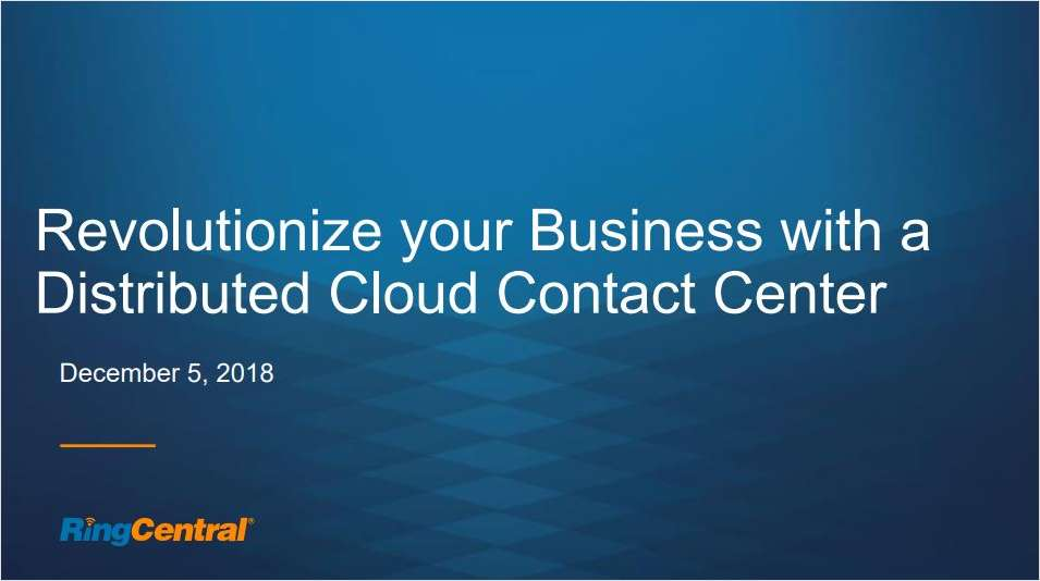 How the cloud can create a distributed contact center and revolutionize your business (with Gant Travel)