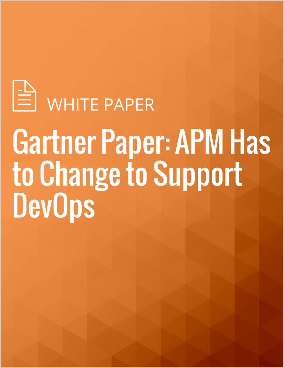 Gartner Paper: APM Has to Change to Support DevOps