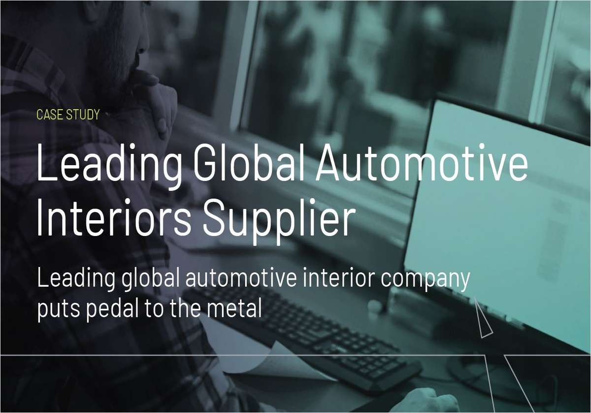 Leading Global Automotive Interiors Supplier Puts Pedal to the Metal