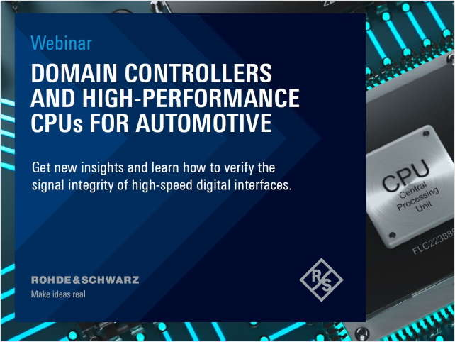 Domain Controllers and High Performance CPUs for Automotive