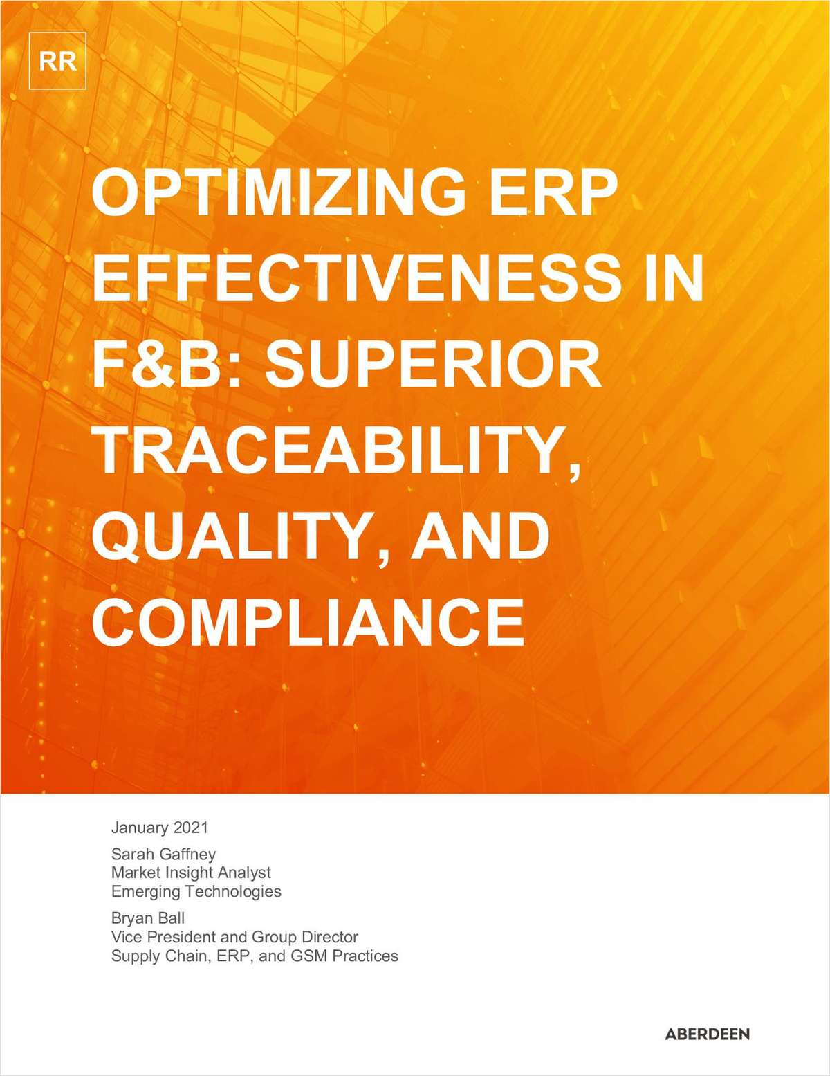 Optimizing ERP Effectiveness in Food and Beverage: Superior Traceability, Quality, And Compliance