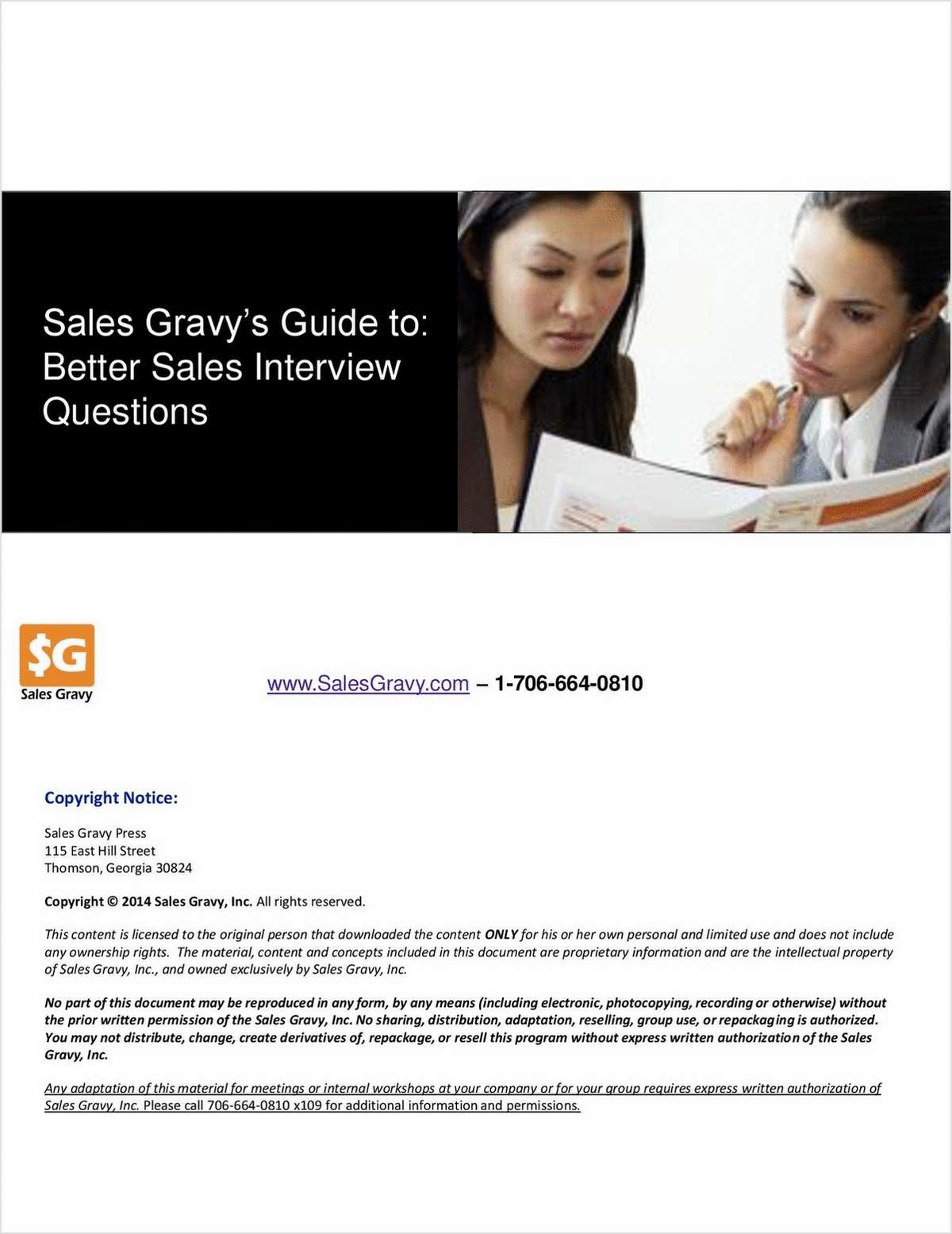 Sales Gravy's Guide to: Better Sales Interview Questions