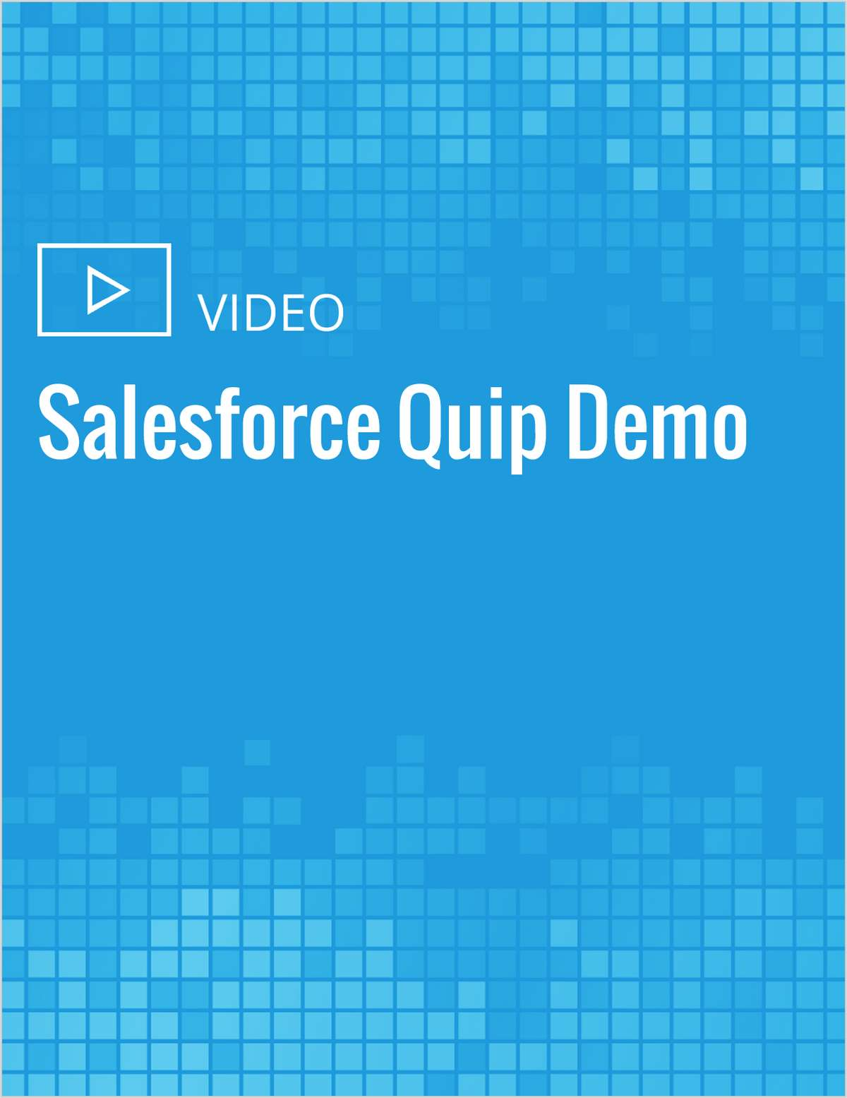 Salesforce Quip Demo