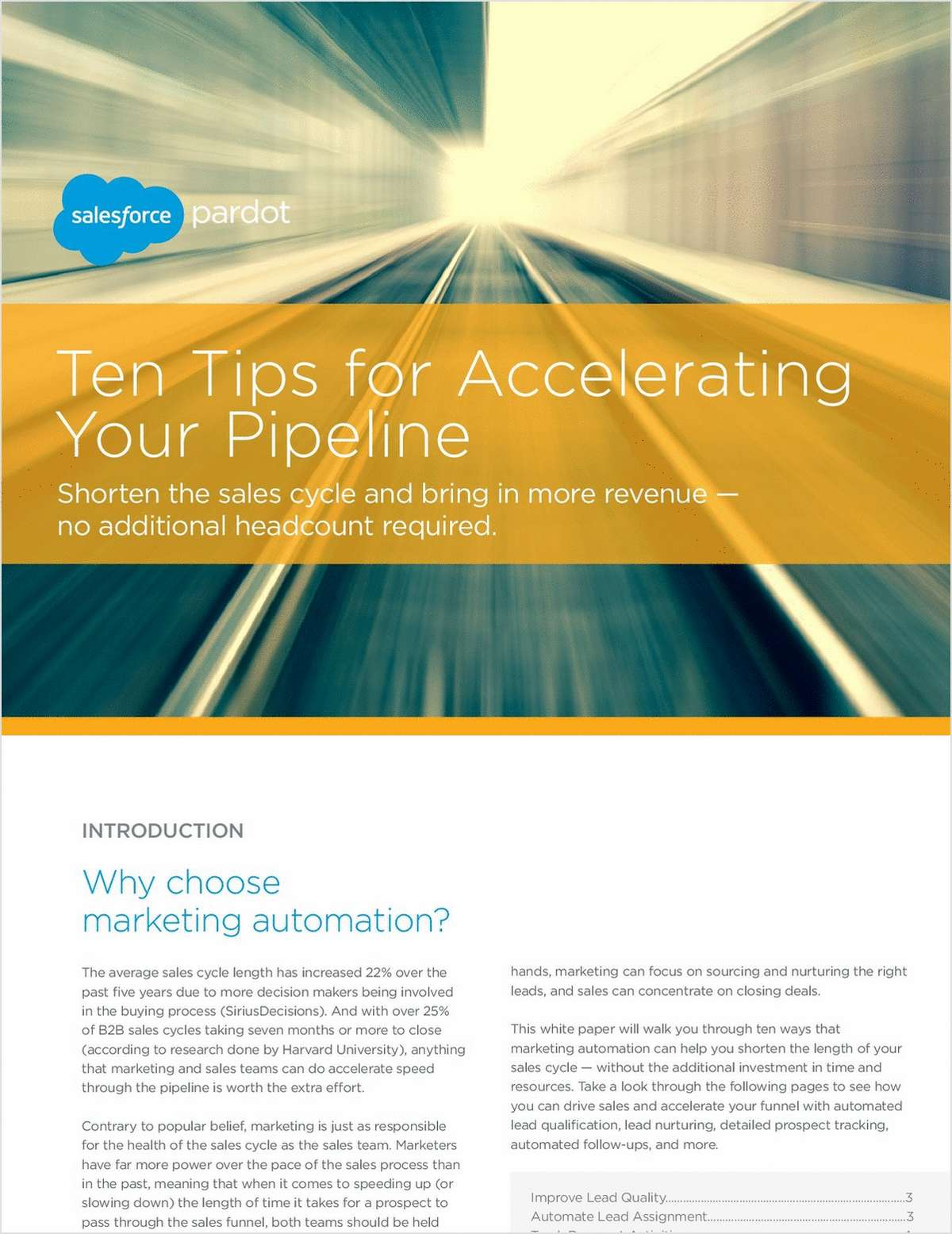 Ten Tips for Accelerating Your Pipeline