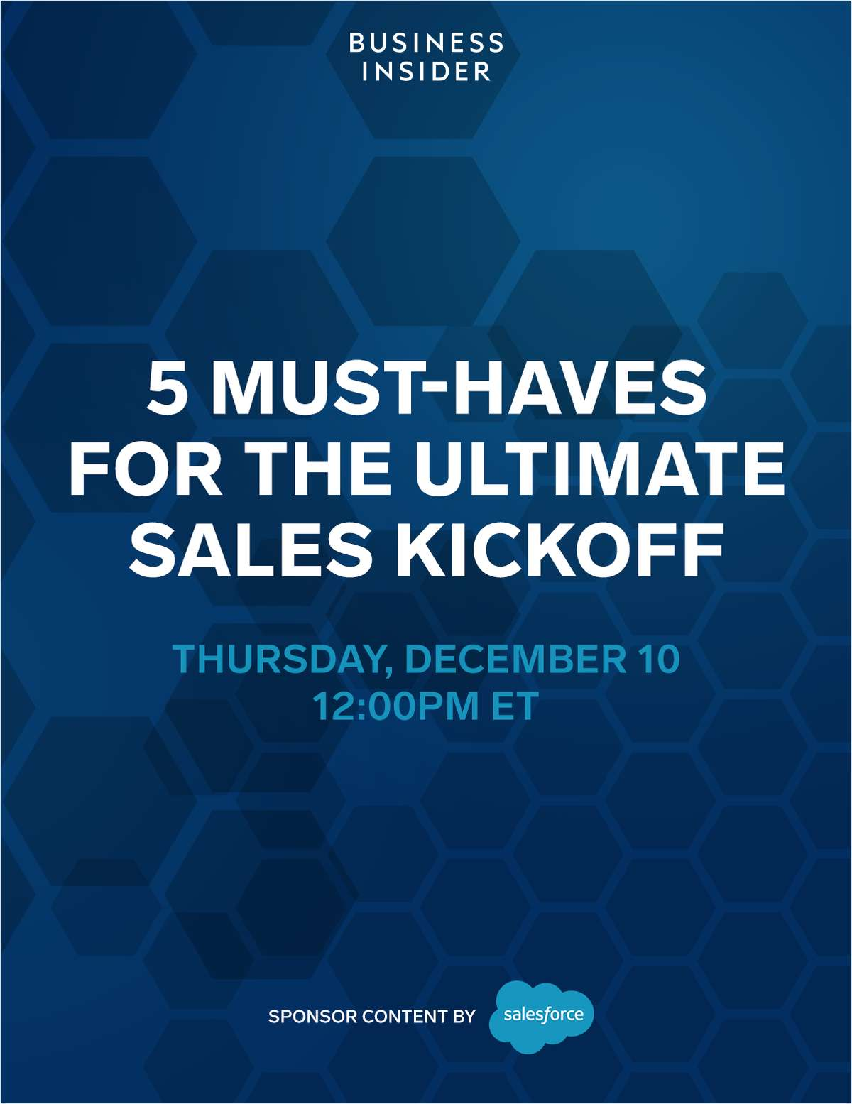 5 Must-Haves for the Ultimate Sales Kickoff