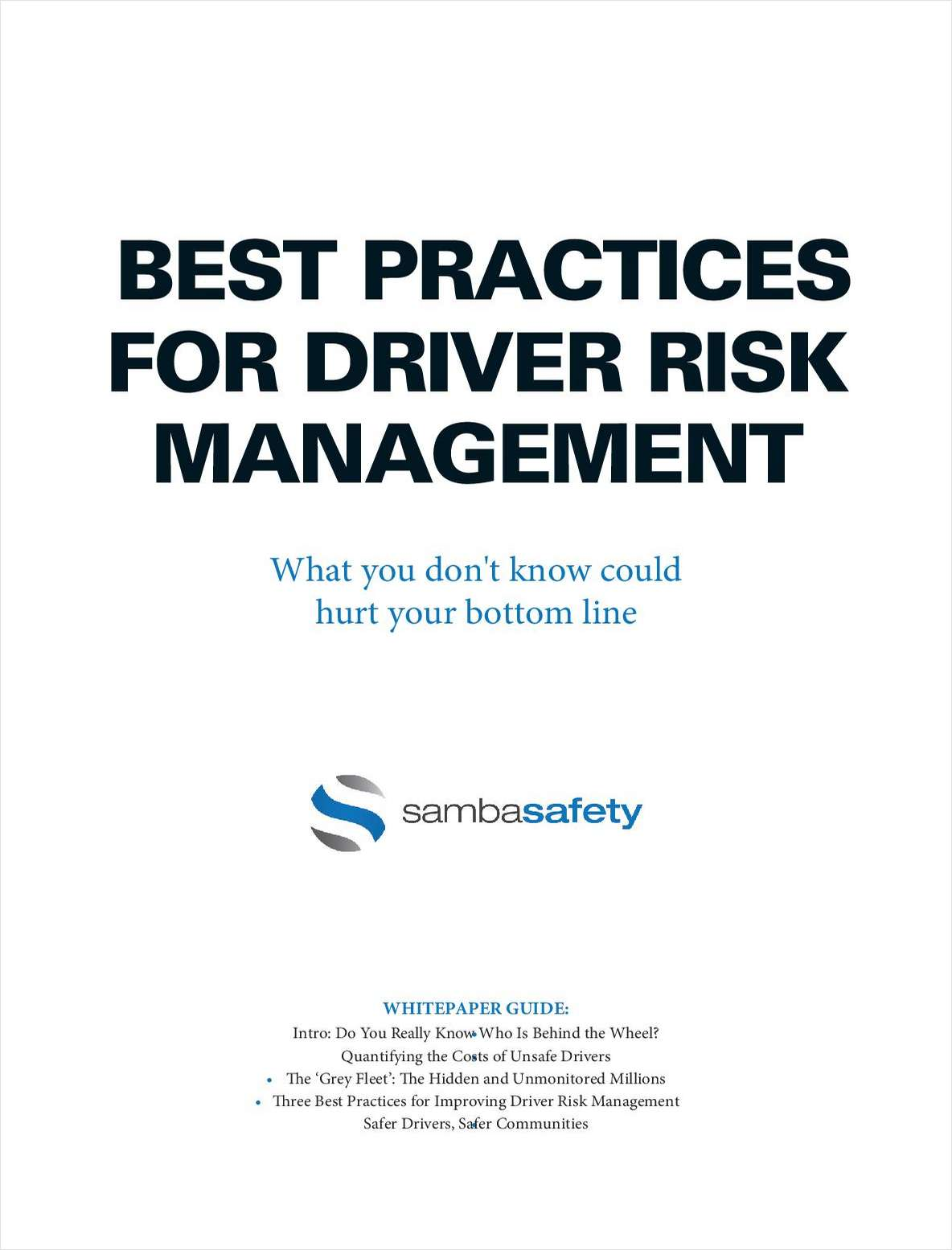 Best Practices for Driver Risk Management