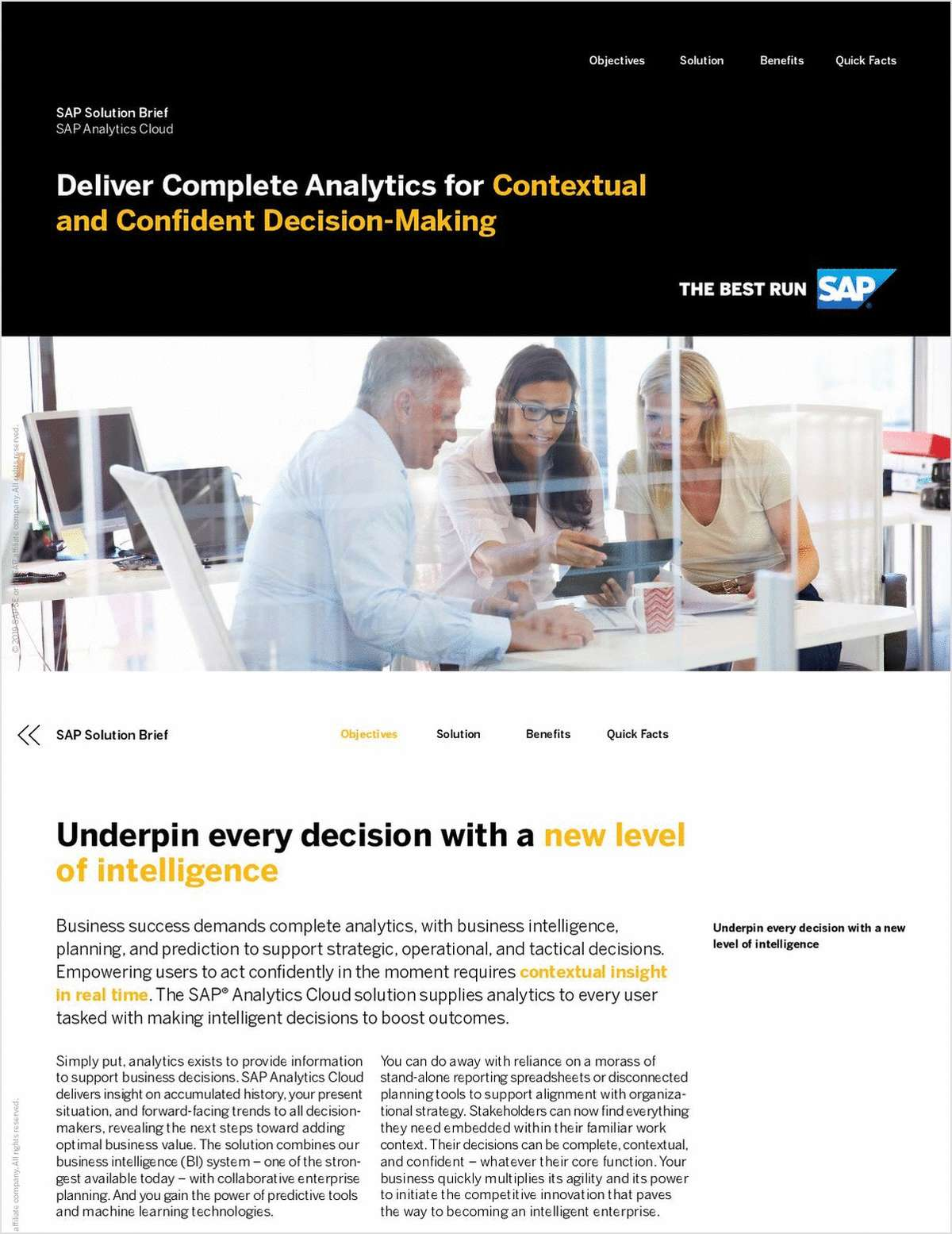 Deliver Complete Analytics for Contextual and Confident Decision-Making