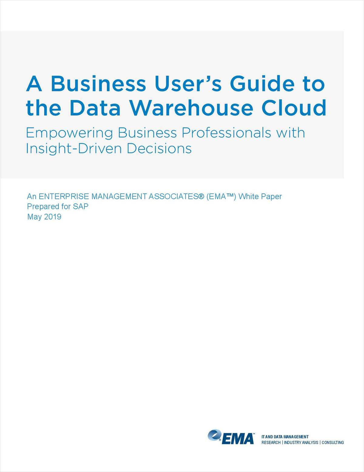 A Business User's Guide to Data Warehouse Cloud