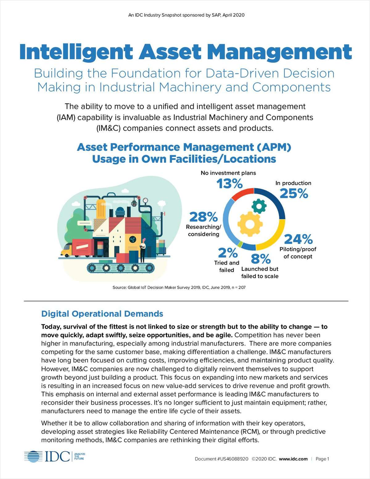 IDC Industry Snapshot: Intelligent Asset Management: Building the Foundation for Data-Driven Decision Making in Industrial Machinery and Components