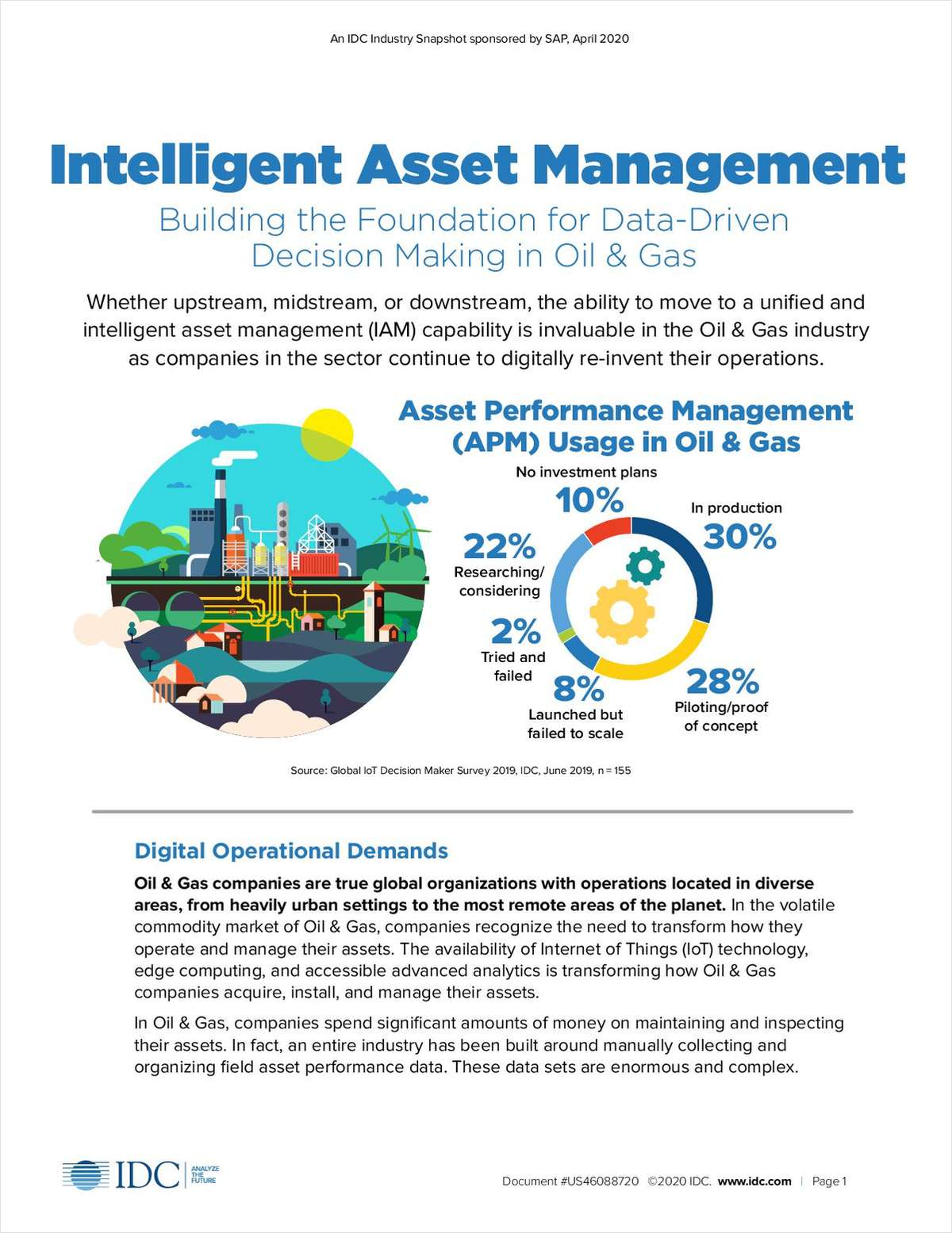 IDC Industry Snapshot: Intelligent Asset Management: Building the Foundation for Data-Driven Decision-Making  in Oil & Gas