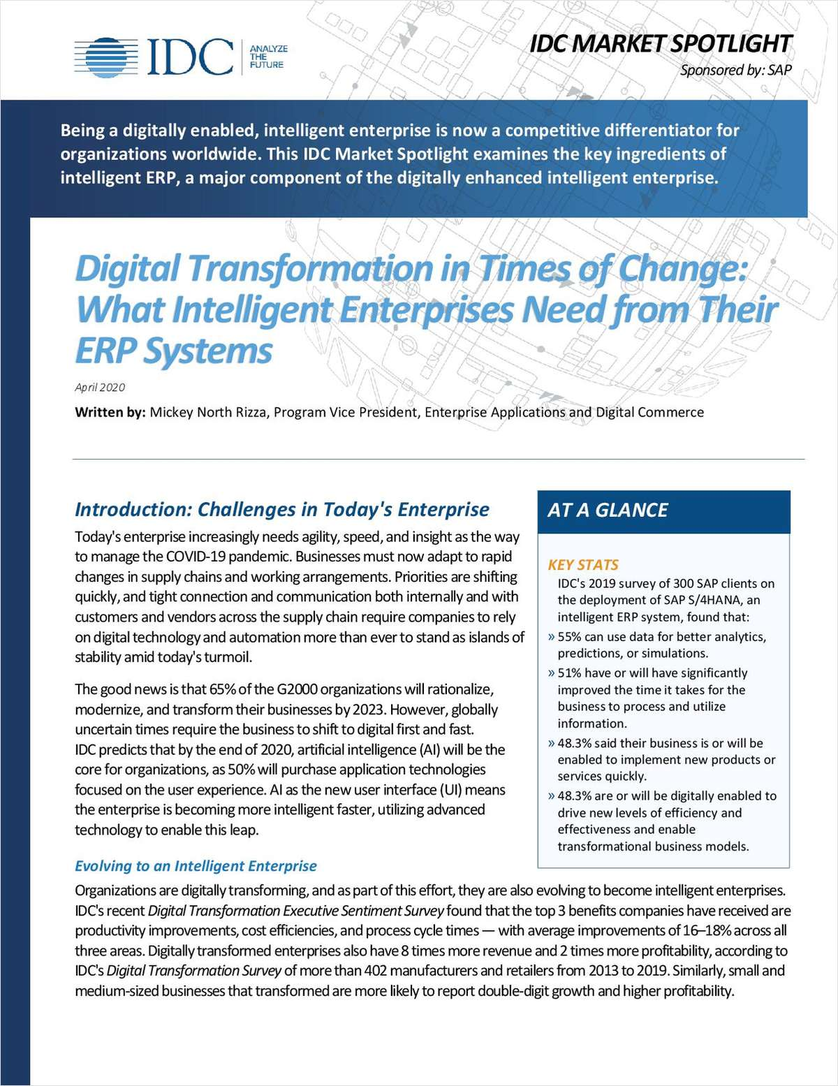 Digital Transformation in Times of Change: What Intelligent Enterprises Need from their ERP Systems