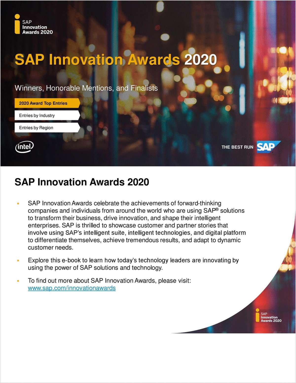 SAP Innovation Awards 2020