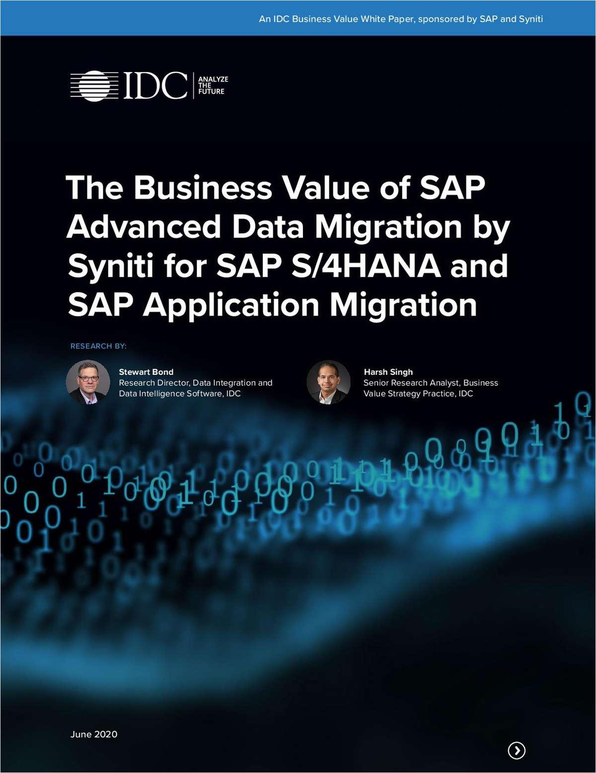 IDC Business Value Study SAP Advanced Data Migration