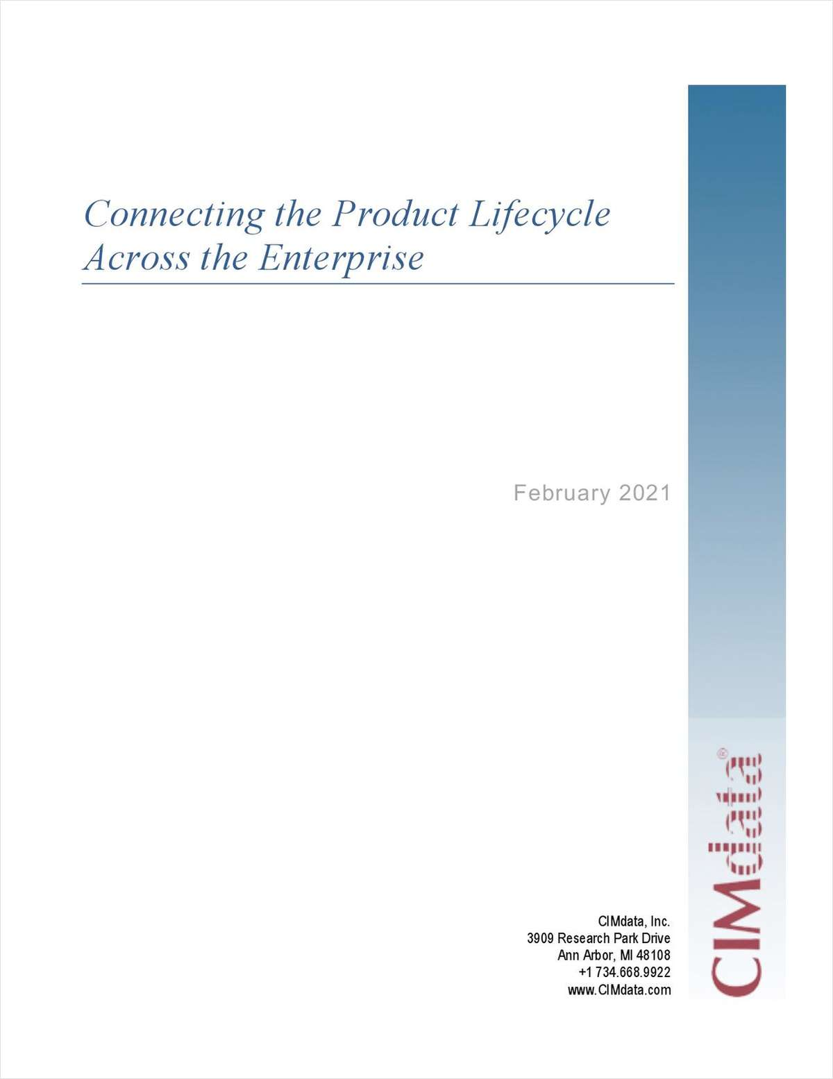 Connecting the Product Lifecycle Across the Enterprise