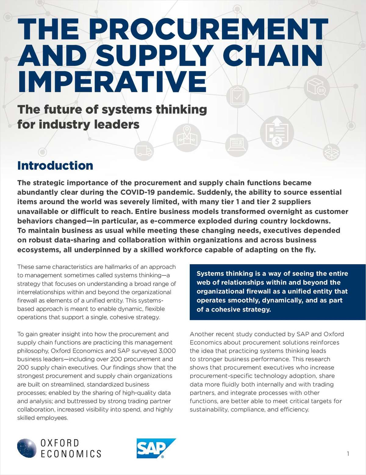 The Procurement and Supply Chain Imperative