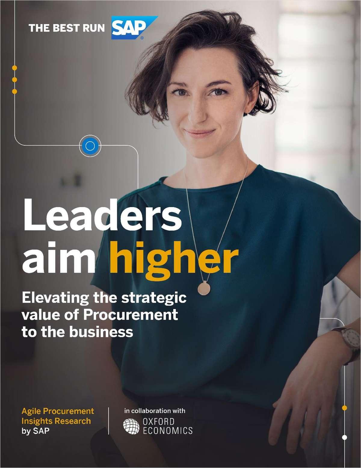 Agile Procurement Insights Report on Leaders: Leaders Aim Higher