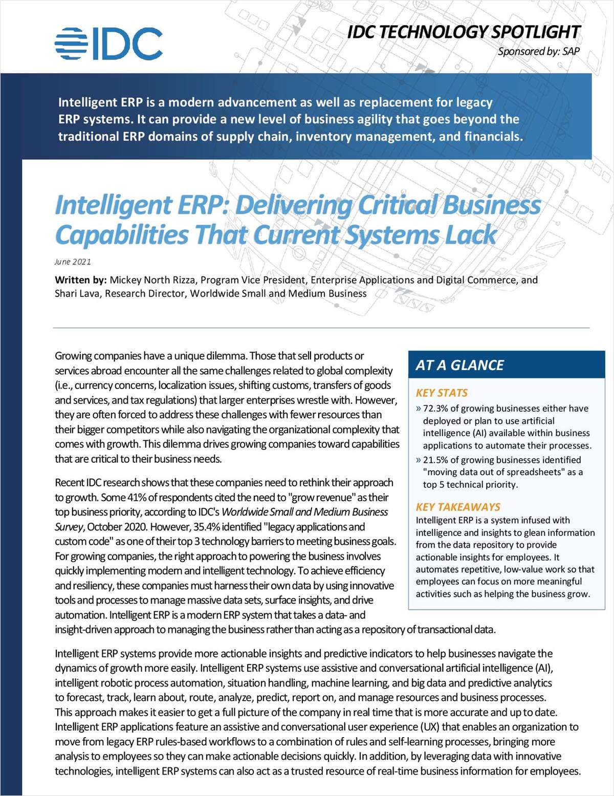 Intelligent ERP: Delivering Critical Business Capabilities that Current Systems Lack