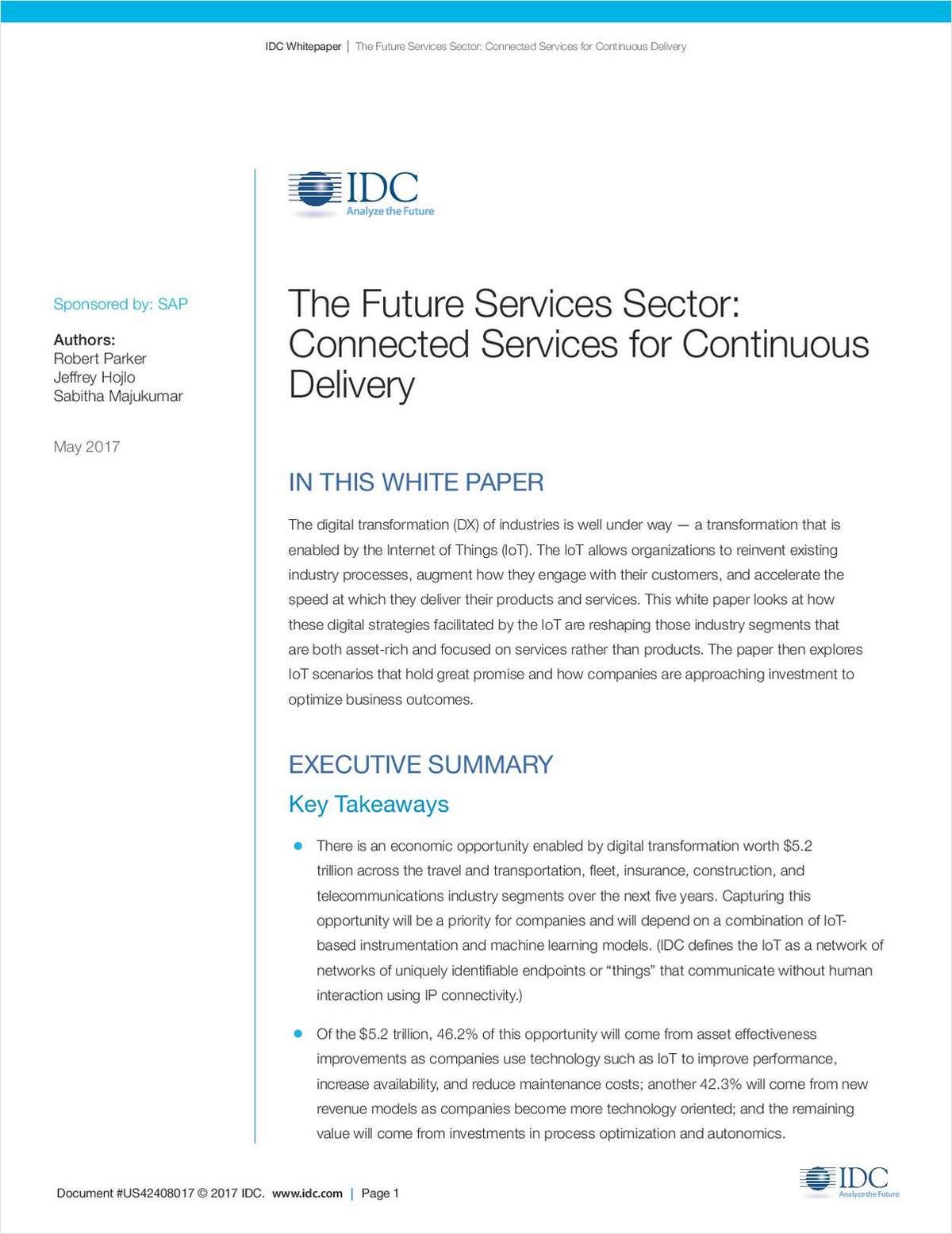 The Future Services Sector: Connected Services for Continuous Delivery