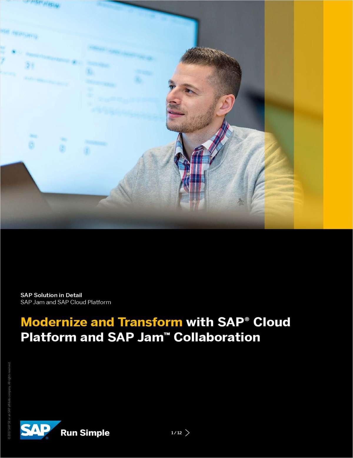 Modernize and Transform with SAP Cloud Platform and SAP Jam Collaboration