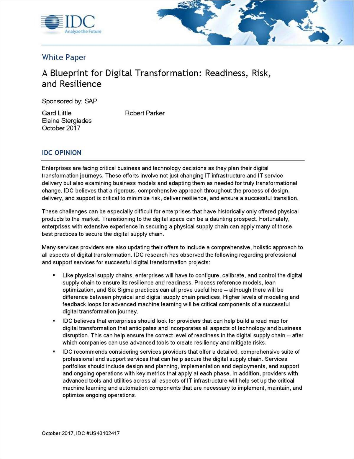 A blueprint for digital transformation readiness risk and a blueprint for digital transformation readiness risk and resilience malvernweather Choice Image