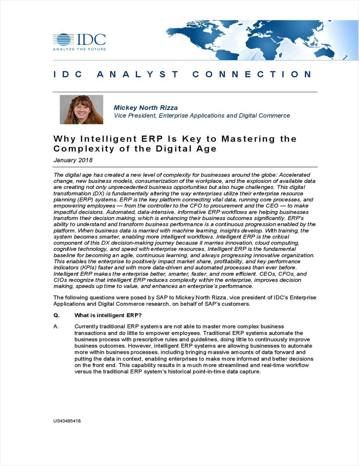 Why Intelligent ERP Is Key to Mastering the Complexity of the Digital Age