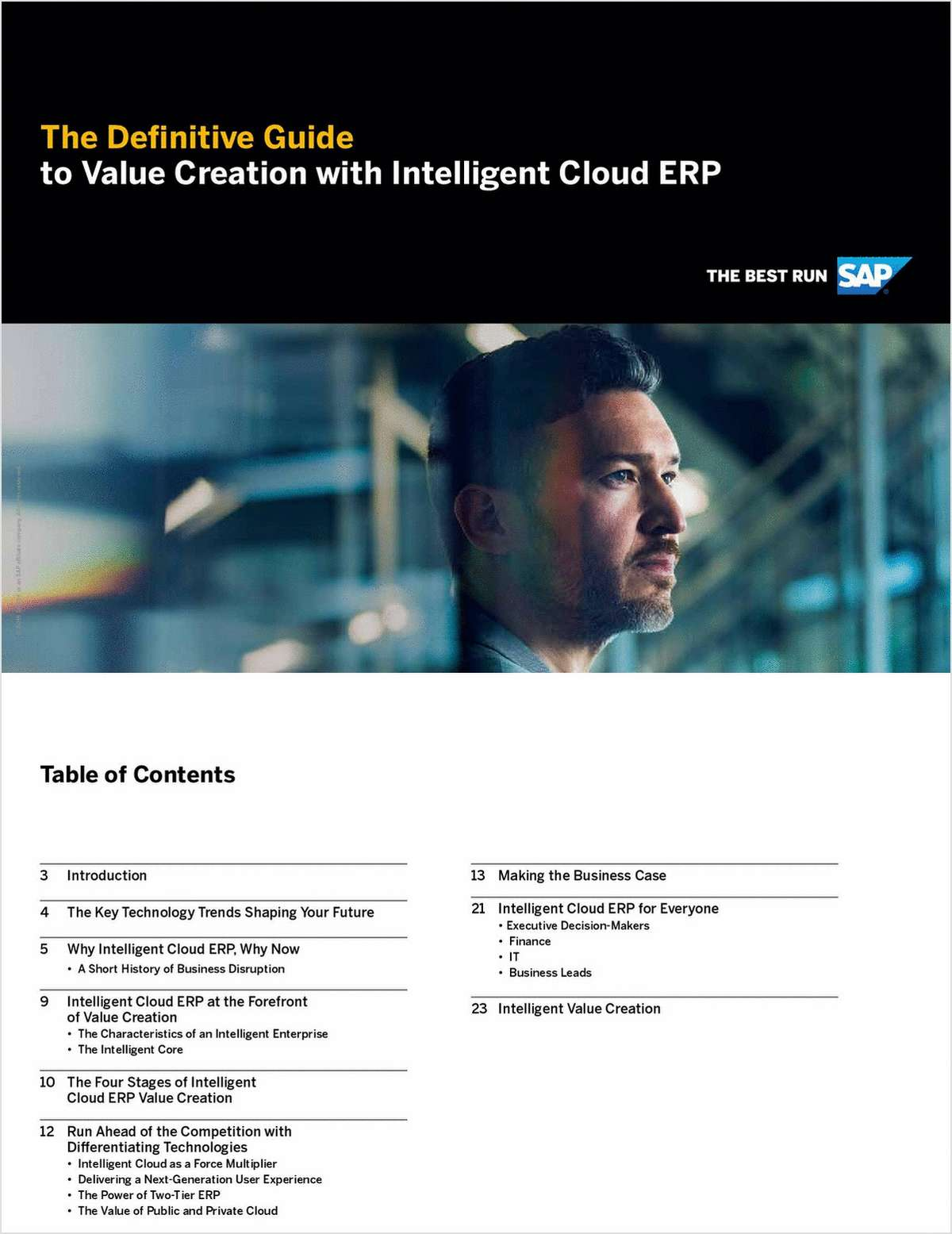 Definitive Guide to Value Creation with Intelligent Cloud ERP