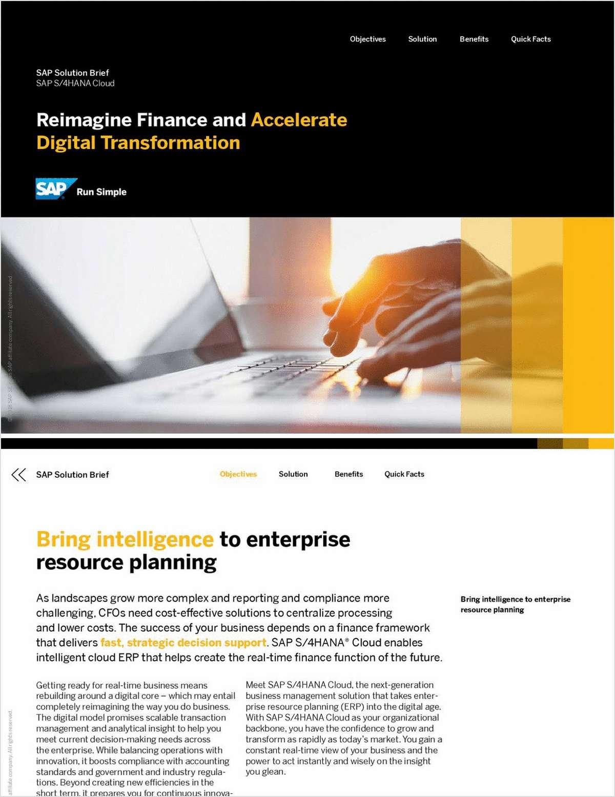 Reimagine Finance and Accelerate Digital Transformation