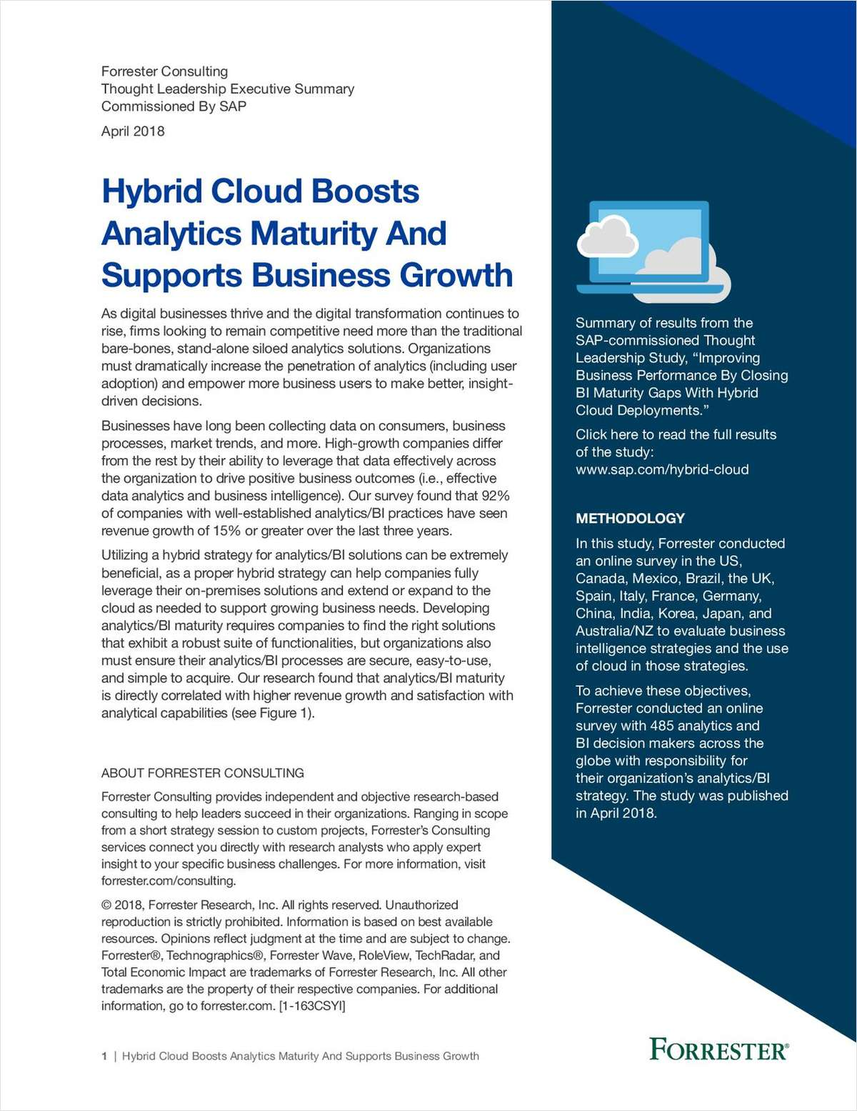 Hybrid Cloud Boosts Analytics Maturity & Supports Business Growth