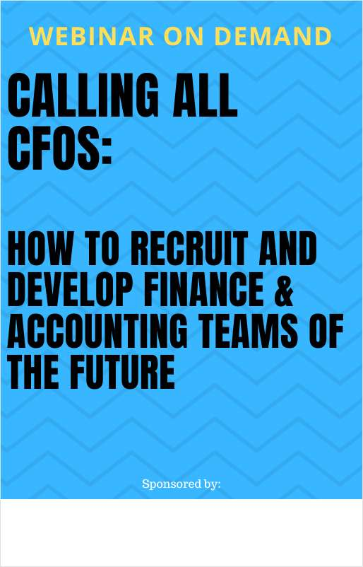 How CFOs Recruit and Develop Finance & Accounting Teams of the Future