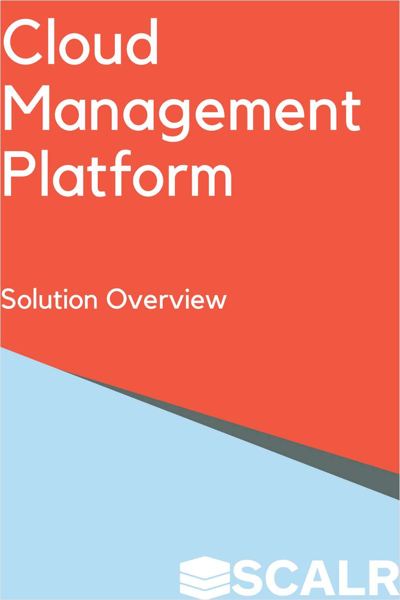 Cloud Management Platform - Solution Overview