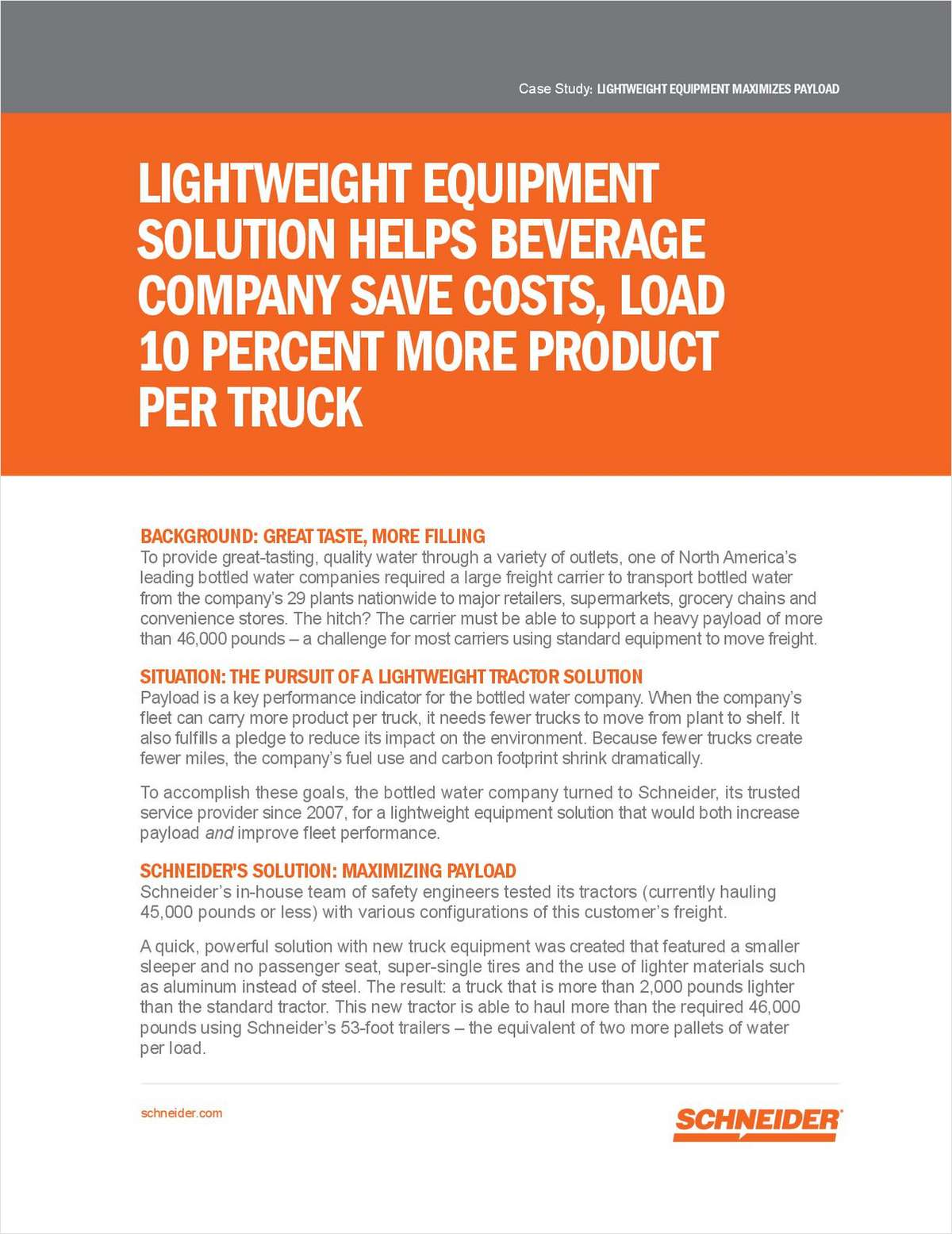 Maximize Efficiency With 10% More Payload Per Trailer